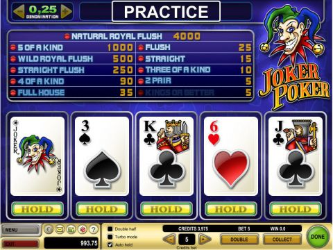 Joker Poker Video Poker Main